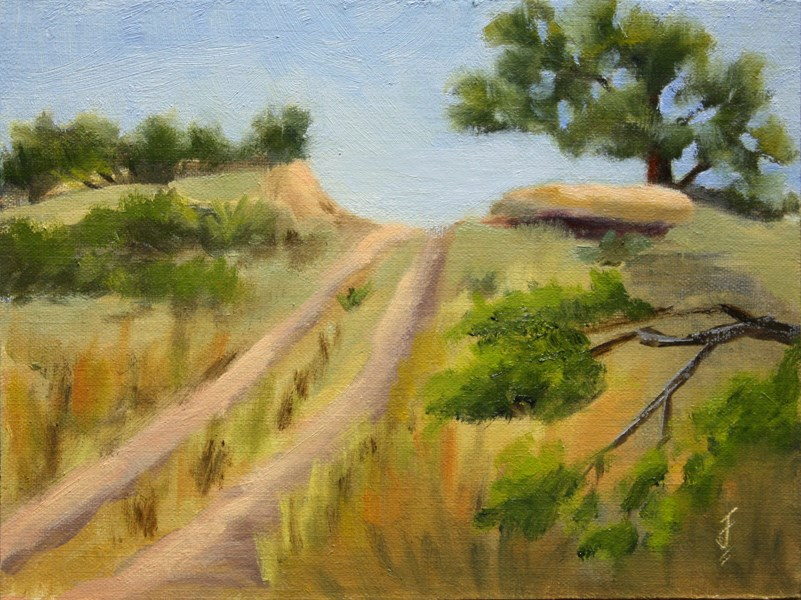 """Road Over the Ridge"" original fine art by Jane Frederick"