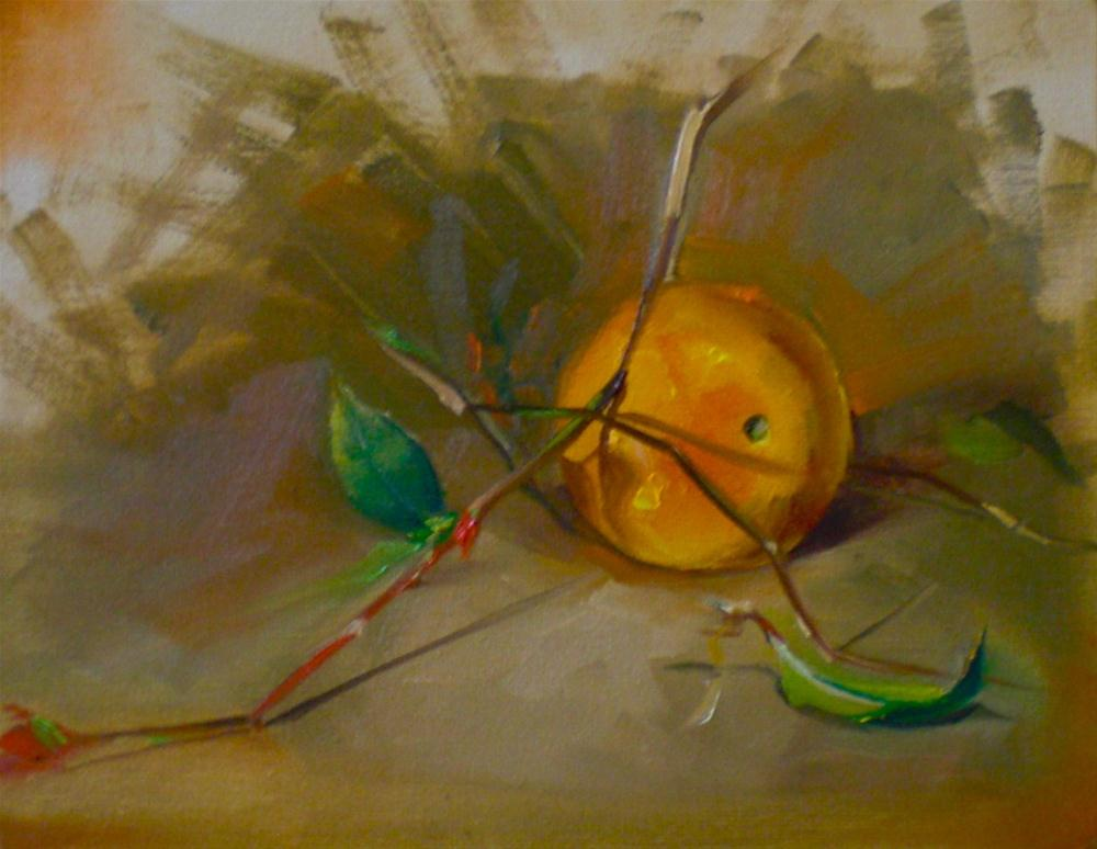 """Orange and twigs"" original fine art by Pragya Tiwari"