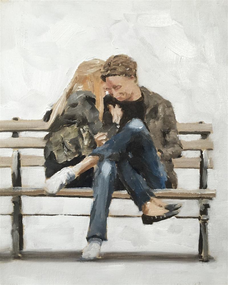"""Secret Love"" original fine art by James Coates"
