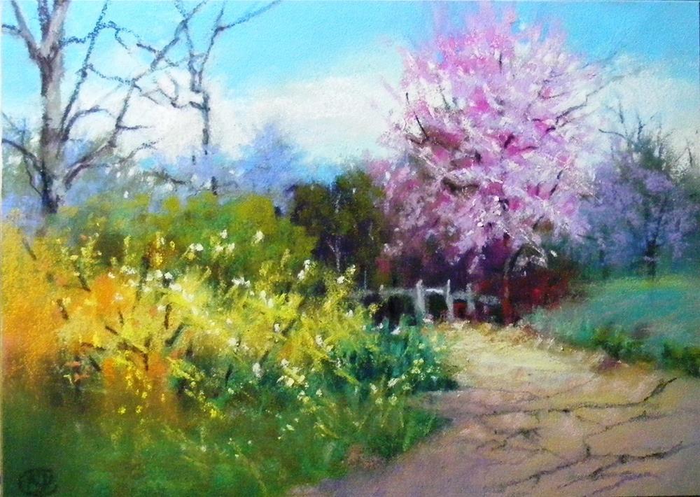 """Parade of blooms"" original fine art by Celine K.  Yong"