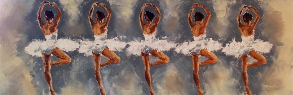 """Ballerina Girls"" original fine art by Marcia Hodges"