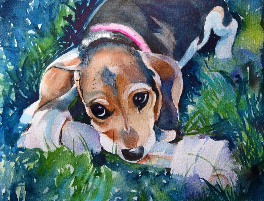 """""""Samantha"""" original fine art by Reveille Kennedy"""