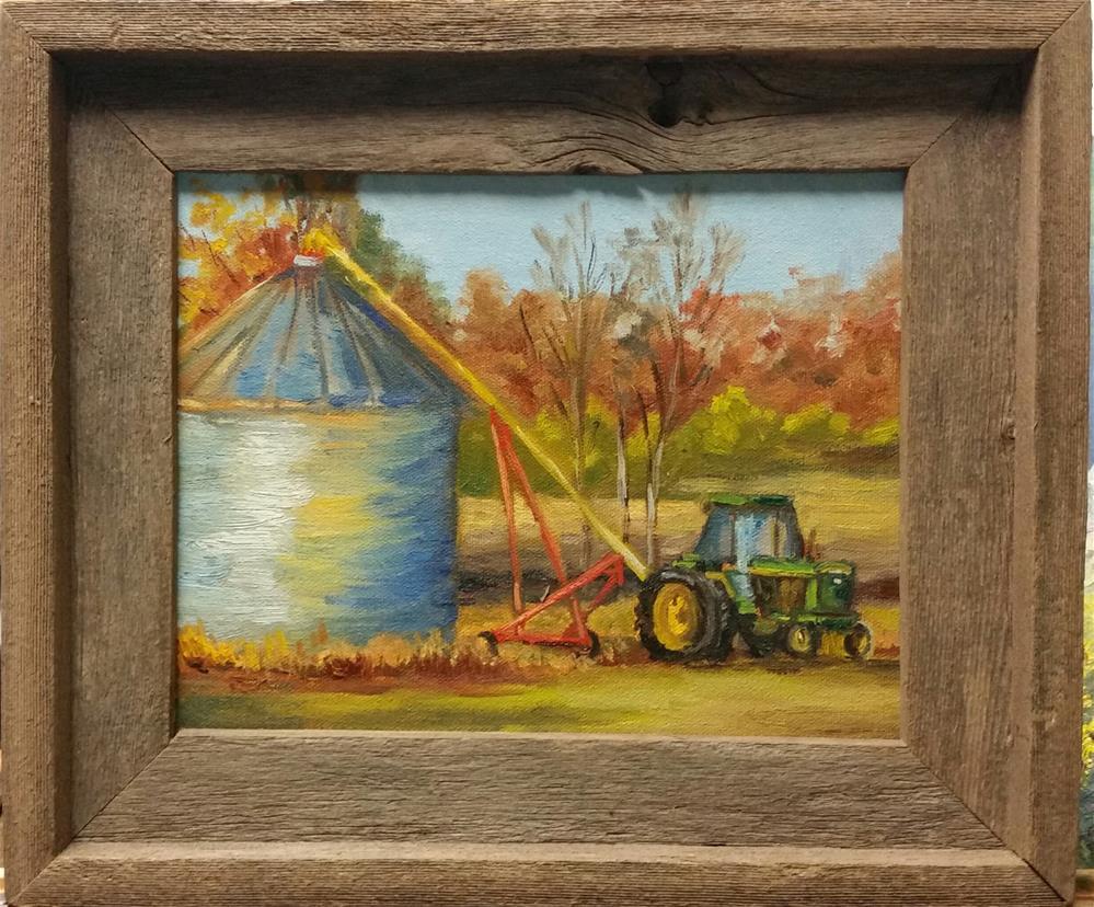 """Bean Harvest along Gasconade River-en plein air"" original fine art by Veronica Brown"