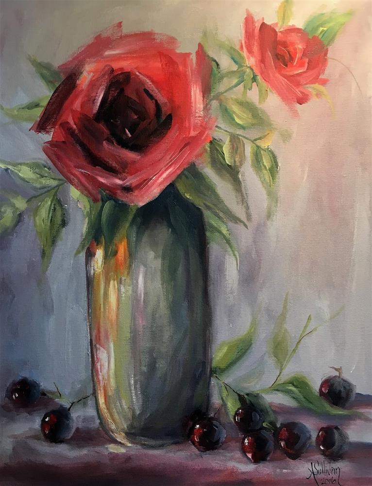 """Only For You still life painting by Alabama Artist Angela Sullivan"" original fine art by Angela Sullivan"