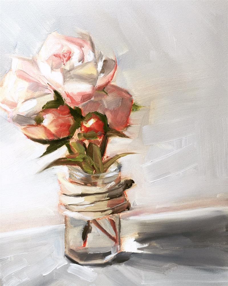 """506 Peonies Everywhere"" original fine art by Jenny Doh"