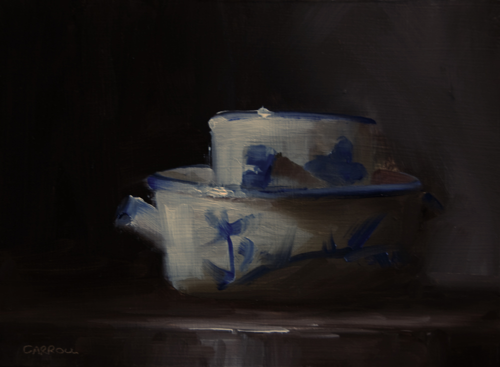 """Dish with Mug"" original fine art by Neil Carroll"