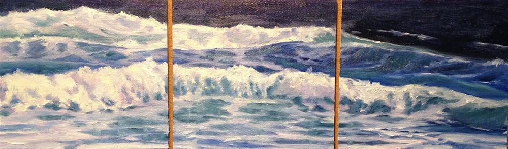 """""""Surf Triptych"""" original fine art by Judith McKenna"""