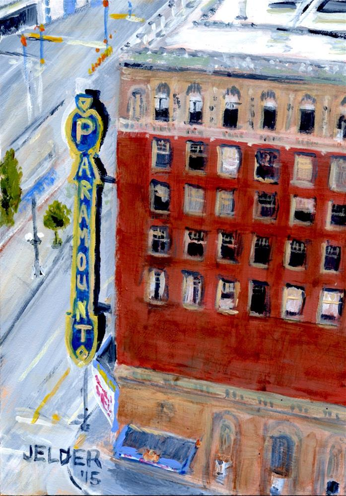 """Paramount Theater"" original fine art by Judith Elder"