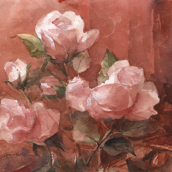 """""""Flores 38"""" original fine art by Emilio López"""