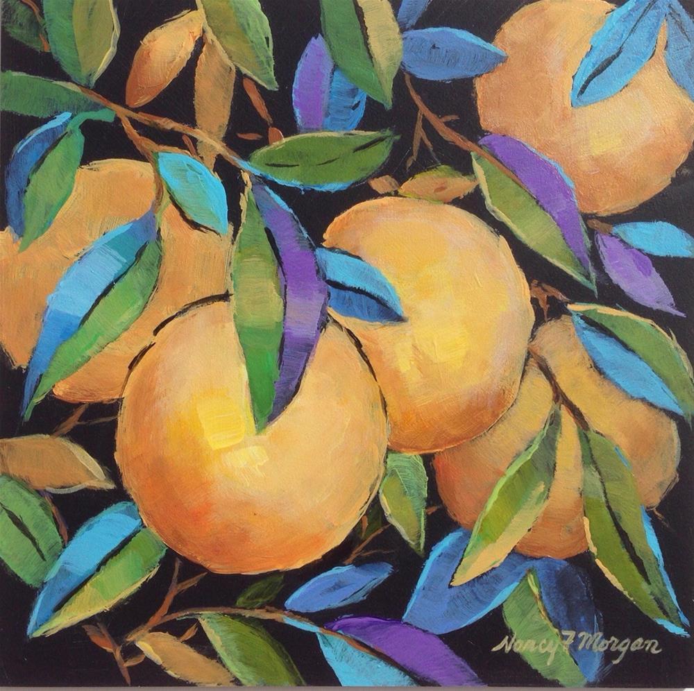 """Pam's Grapefruit"" original fine art by Nancy F. Morgan"