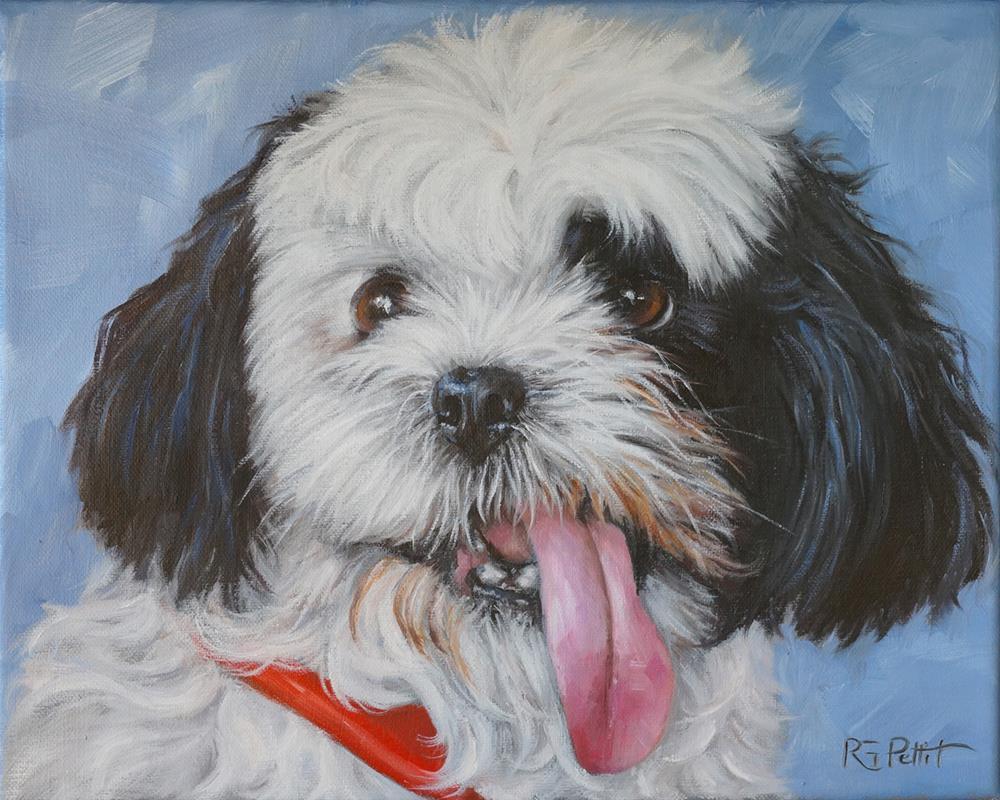"""Bailey, custom dog portrait"" original fine art by Rhea  Groepper Pettit"