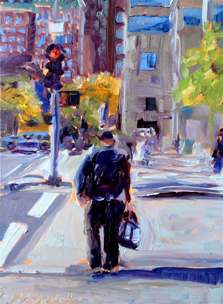 """City Fella"" original fine art by Kristen Dukat"
