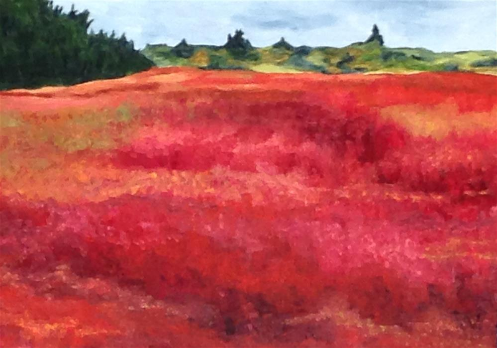 """The Red Barrens"" original fine art by Karen Collins"