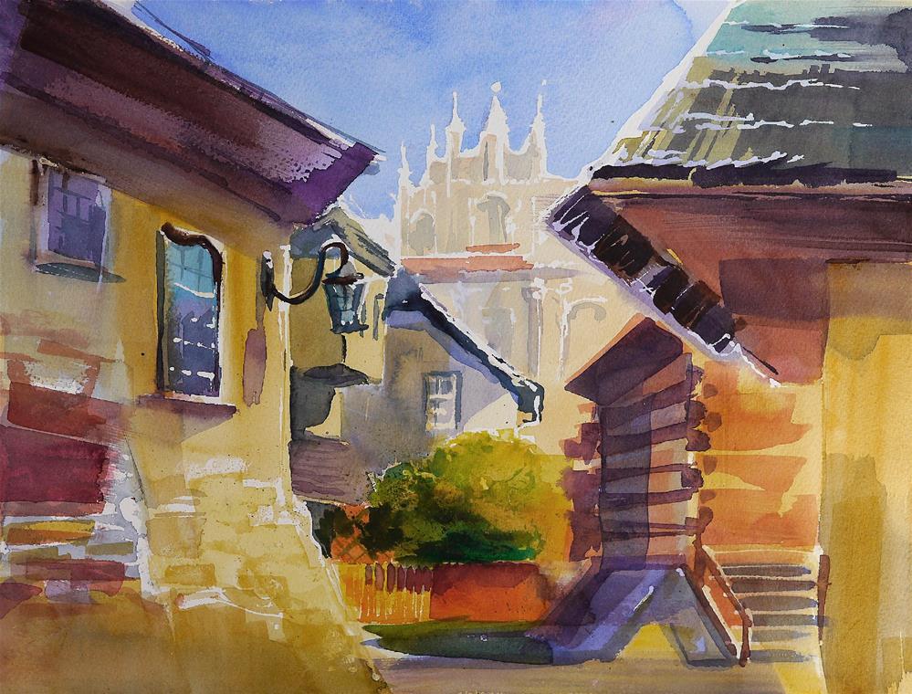 """""""Kazimierz Dolny"""" original fine art by Beata Musial-Tomaszewska"""
