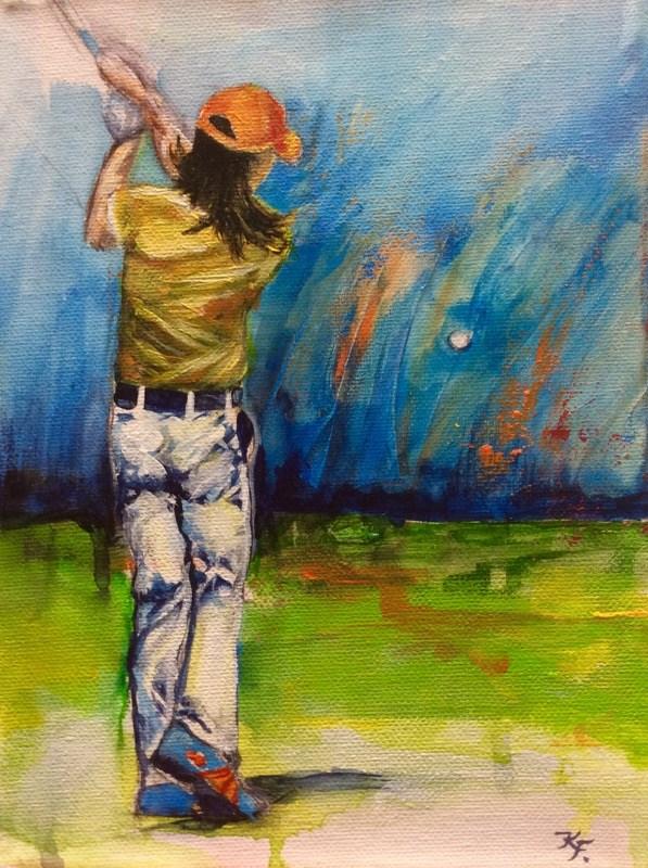 """Fascination..."" original fine art by Klaudia Frieda"