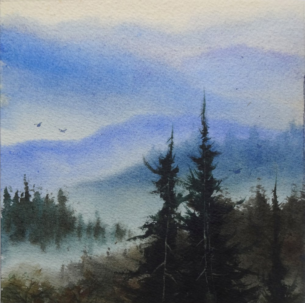"""Morning Fog, Tamalpais"" original fine art by Arena Shawn"