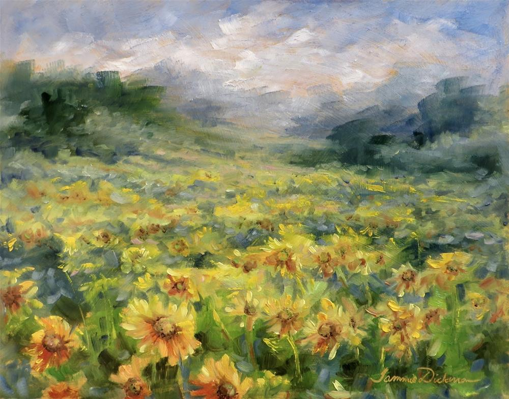 """Sunflower Fields Forever"" original fine art by Tammie Dickerson"
