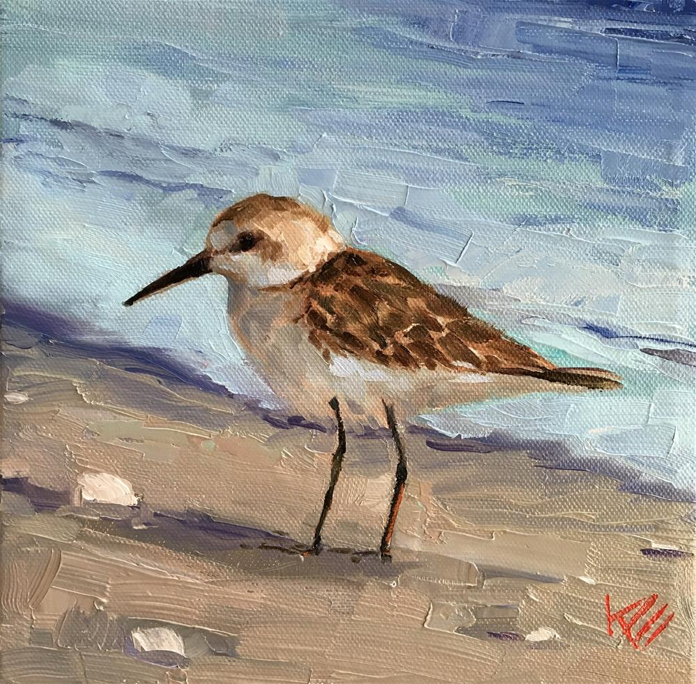 """Piper on the Shore"" original fine art by Krista Eaton"
