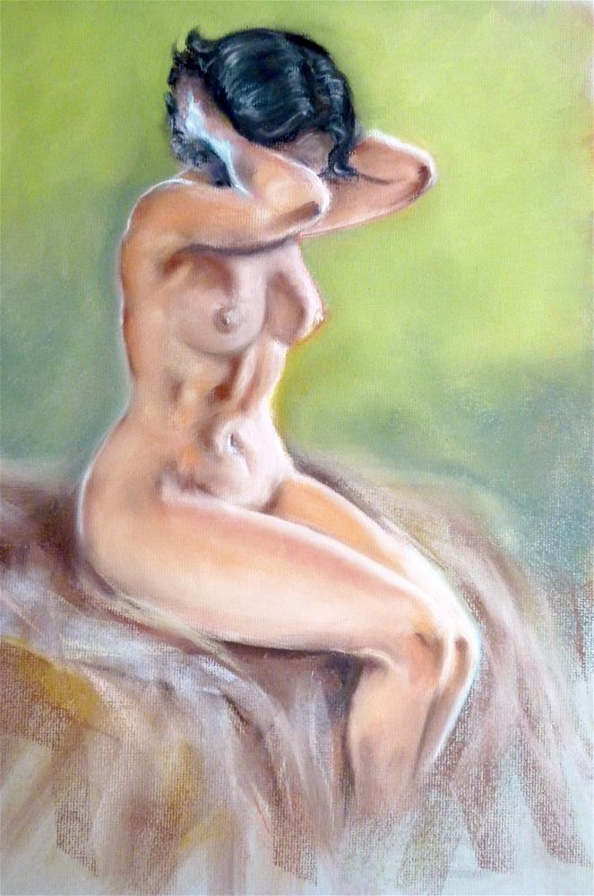 """Seated Nude"" original fine art by Helene Adamson"
