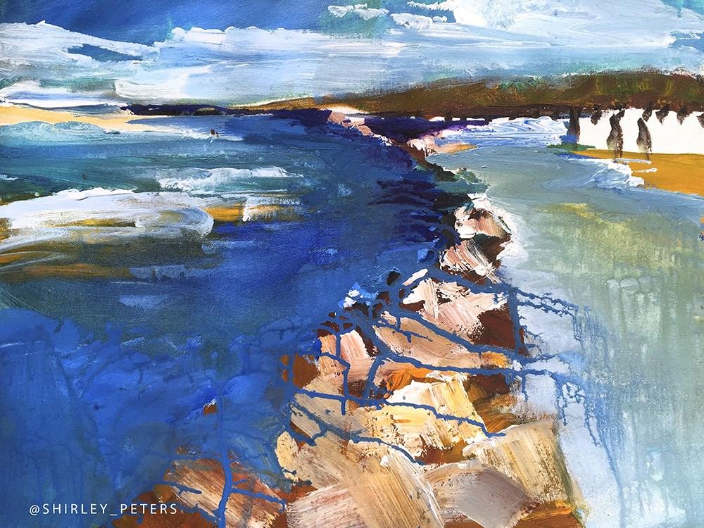 """""""Looking to Summer, en plein-air."""" original fine art by Shirley Peters"""