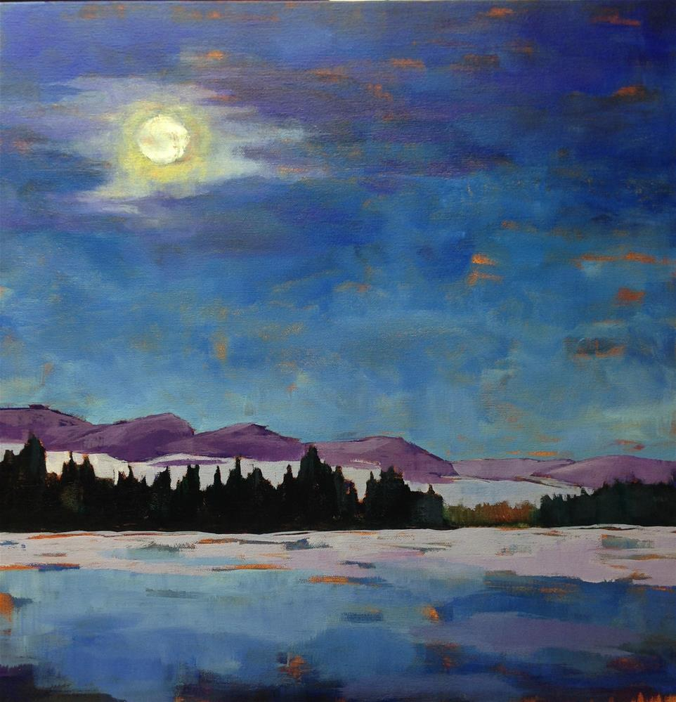 """By the Light of the Moon II / 20x20"" original fine art by Eileen Hennemann"