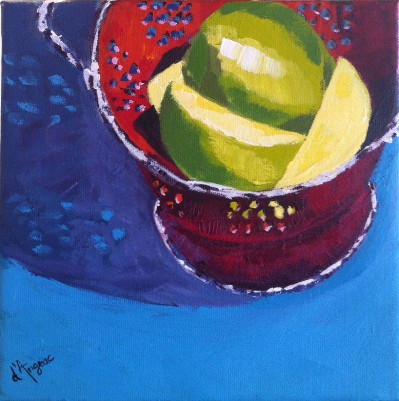 """""""Apples"""" original fine art by Karen D'angeac Mihm"""