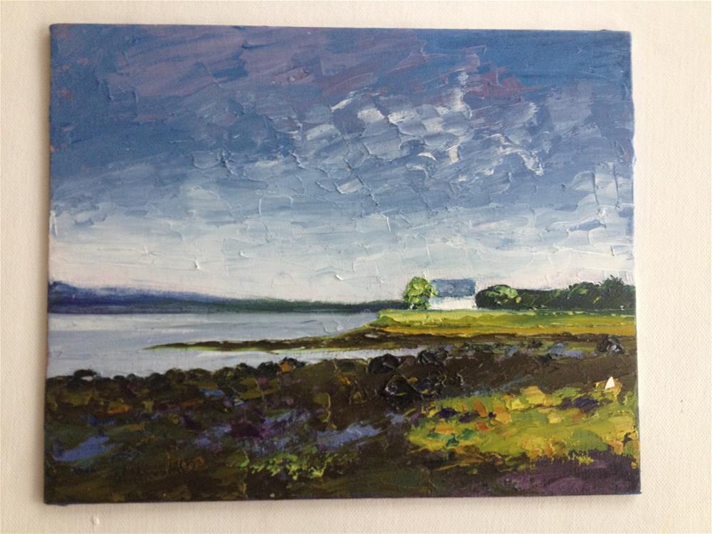 """""""STRAND HILL, SLIGO (#5)"""" original fine art by Marie O' Higgins"""