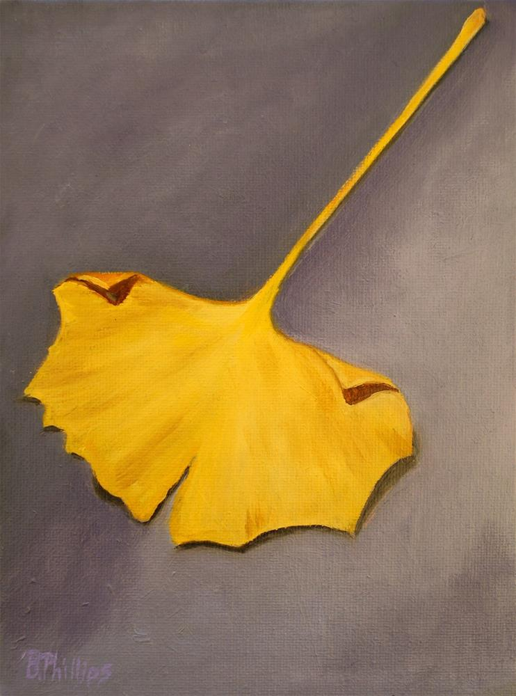 """Ginkgo leaf"" original fine art by Beverley Phillips"