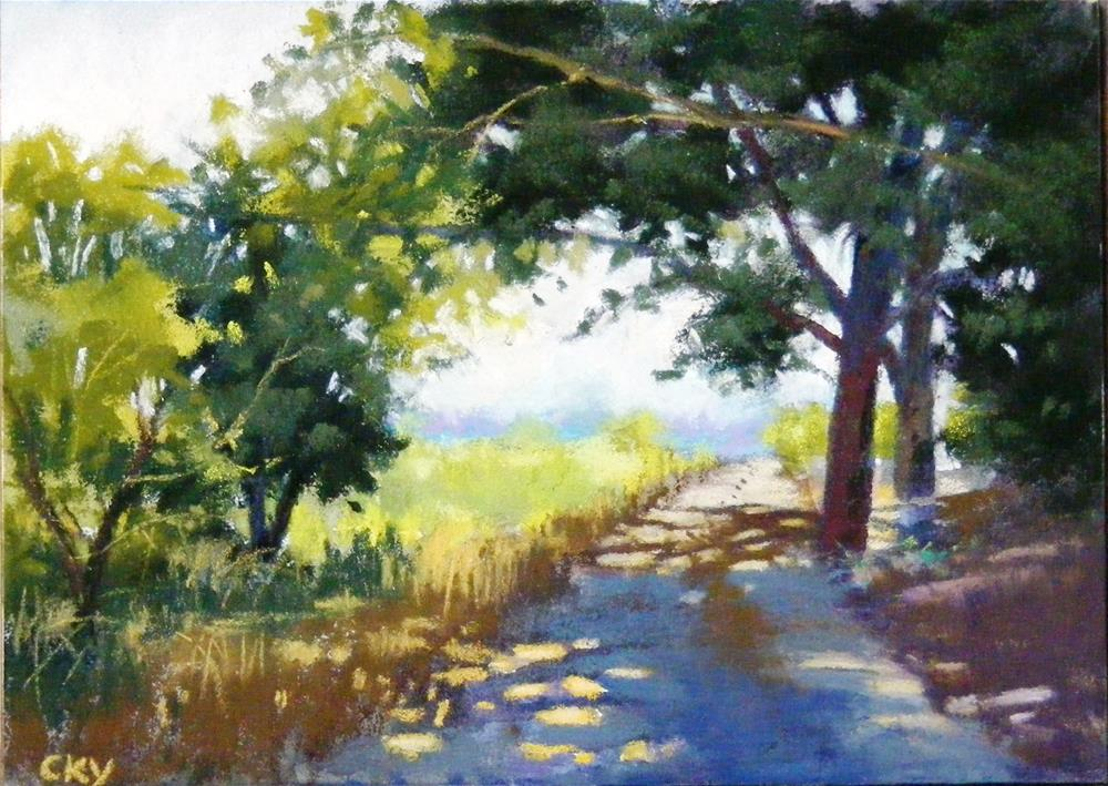 """A bright day"" original fine art by Celine K.  Yong"