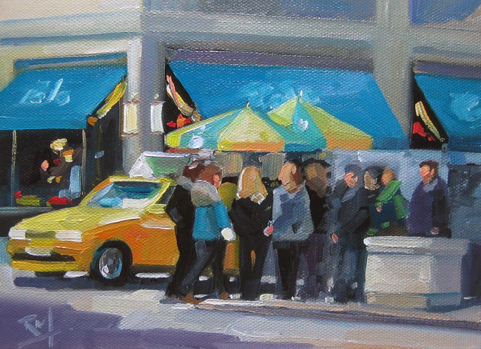 """No765_Polo5thAve"" original fine art by Robin J Mitchell"
