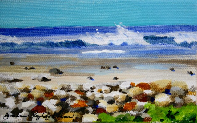 """Pebbled Beach"" original fine art by JoAnne Perez Robinson"