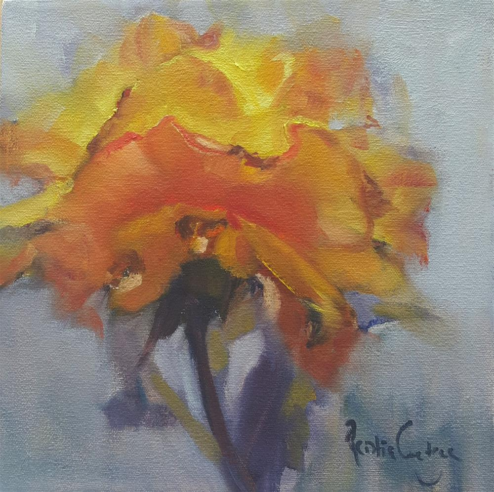 """My sunshine rose"" original fine art by Rentia Coetzee"