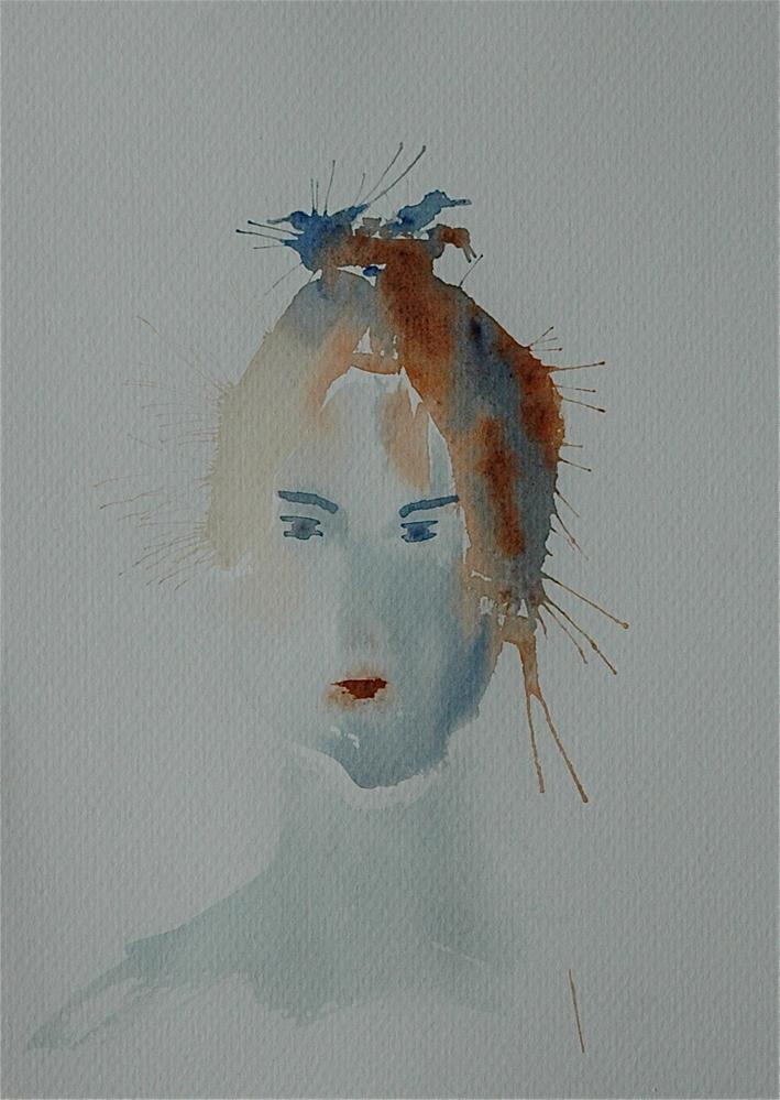 """Chinese girl with birds in her hair"" original fine art by Ulrike Schmidt"