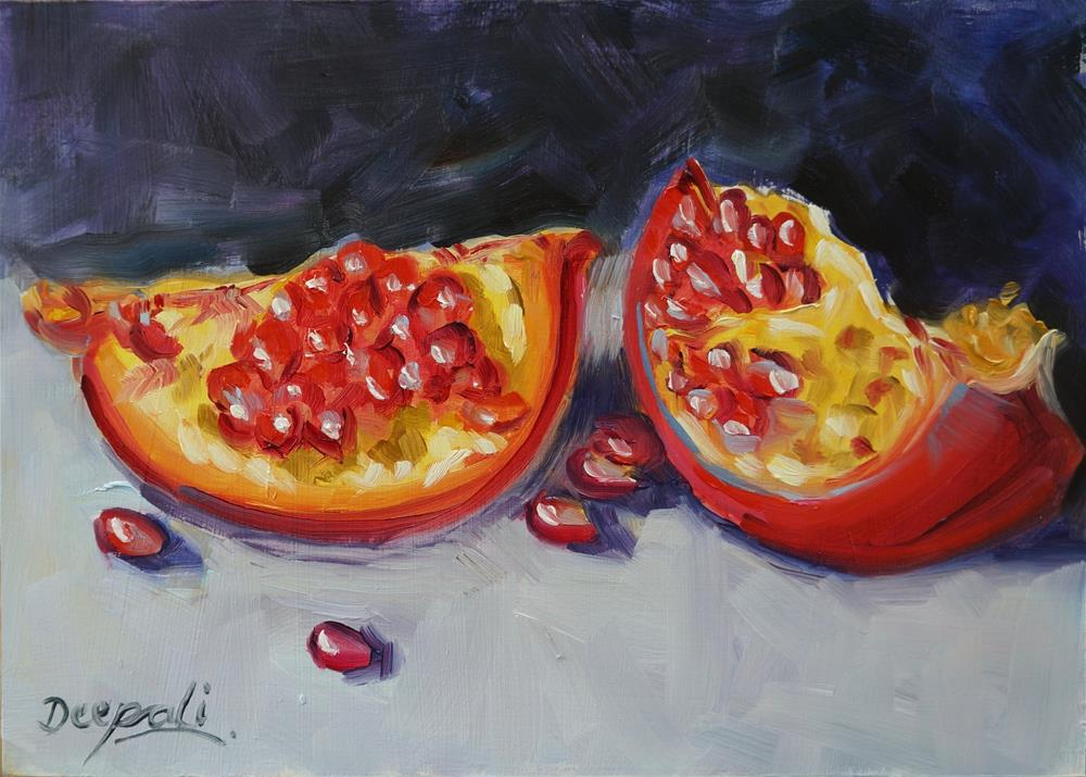 """Pomegranate"" original fine art by Dipali Rabadiya"