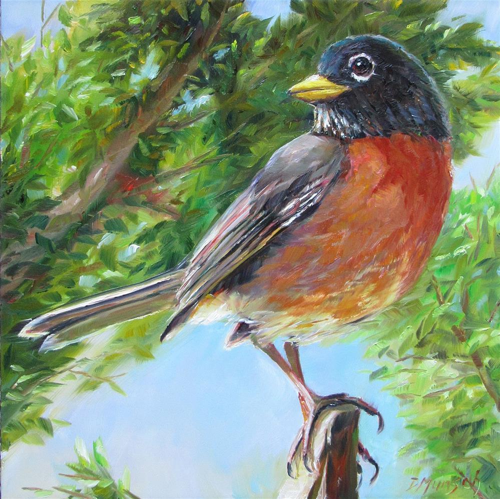 """Red Robin Come Over"" original fine art by Donna Munsch"