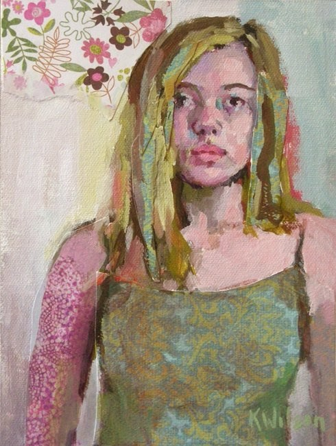 """Summer Shirt"" original fine art by Katie Wilson"
