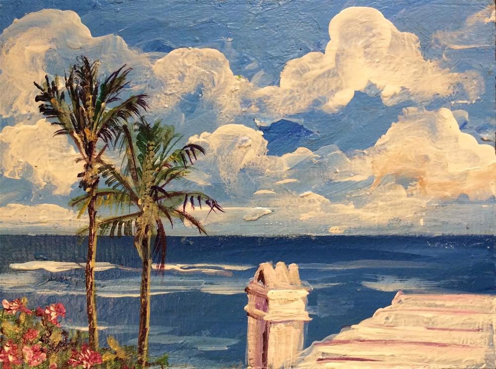 """""""Bermuda ocean view painting"""" original fine art by Sonia von Walter"""
