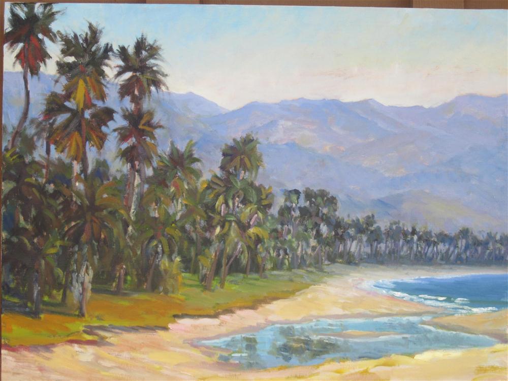 """""""Santa Barbara Palms"""" original fine art by Leigh Alexandra Sparks"""