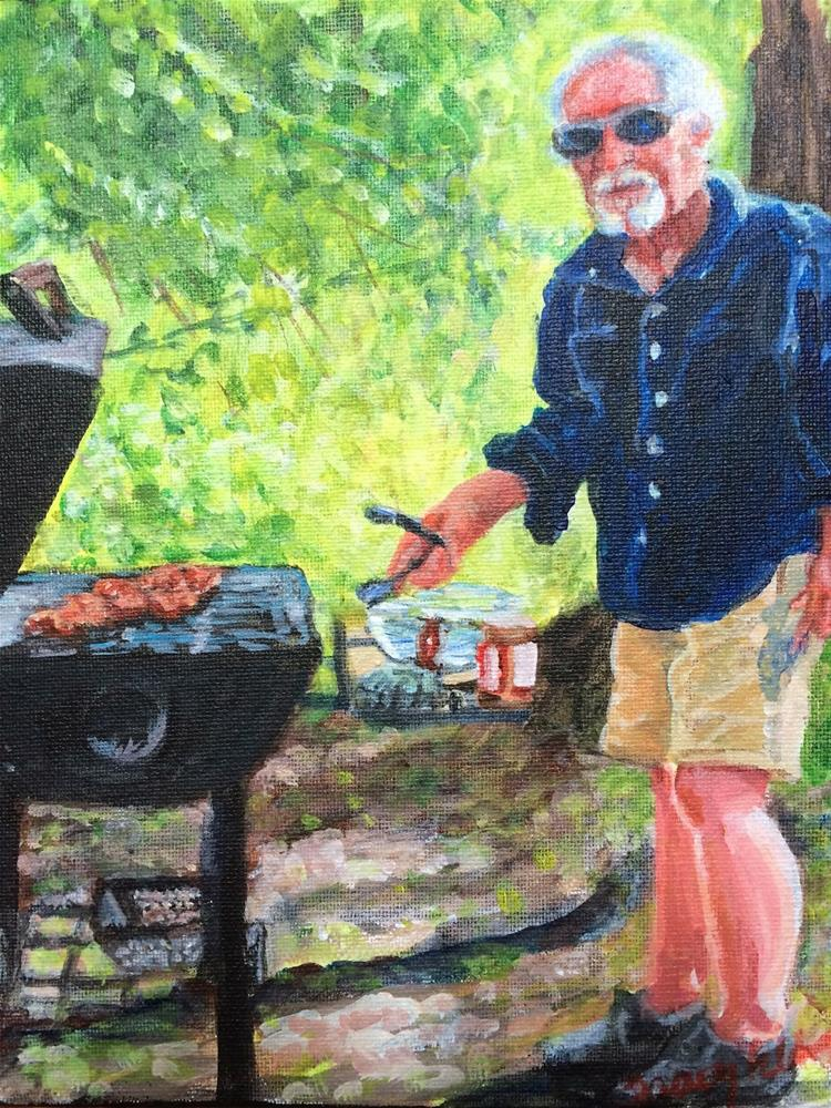 """The Grill King"" original fine art by Tracy Feldman"