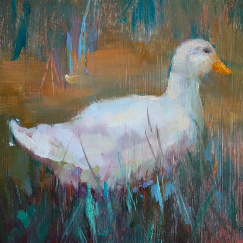 """""""Duck Tail"""" original fine art by Pamela Sweet"""