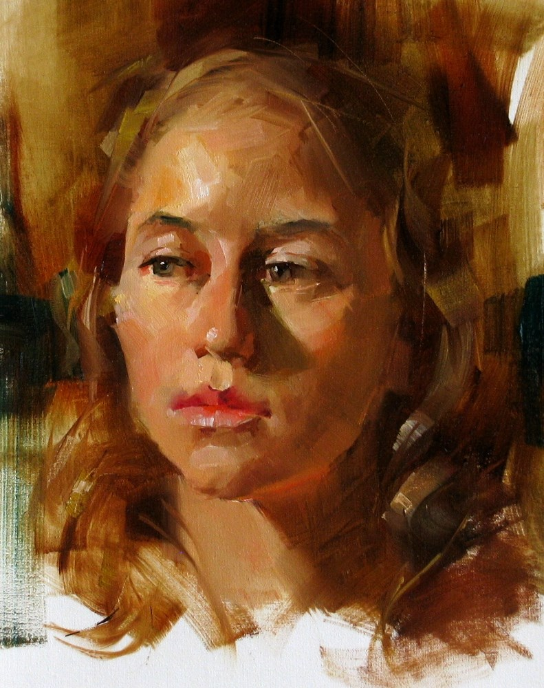 """Head Study 052213"" original fine art by Qiang Huang"