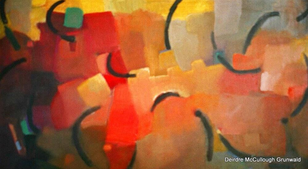 """Color Movement on Paper(Series)"" original fine art by Deirdre McCullough Grunwald"