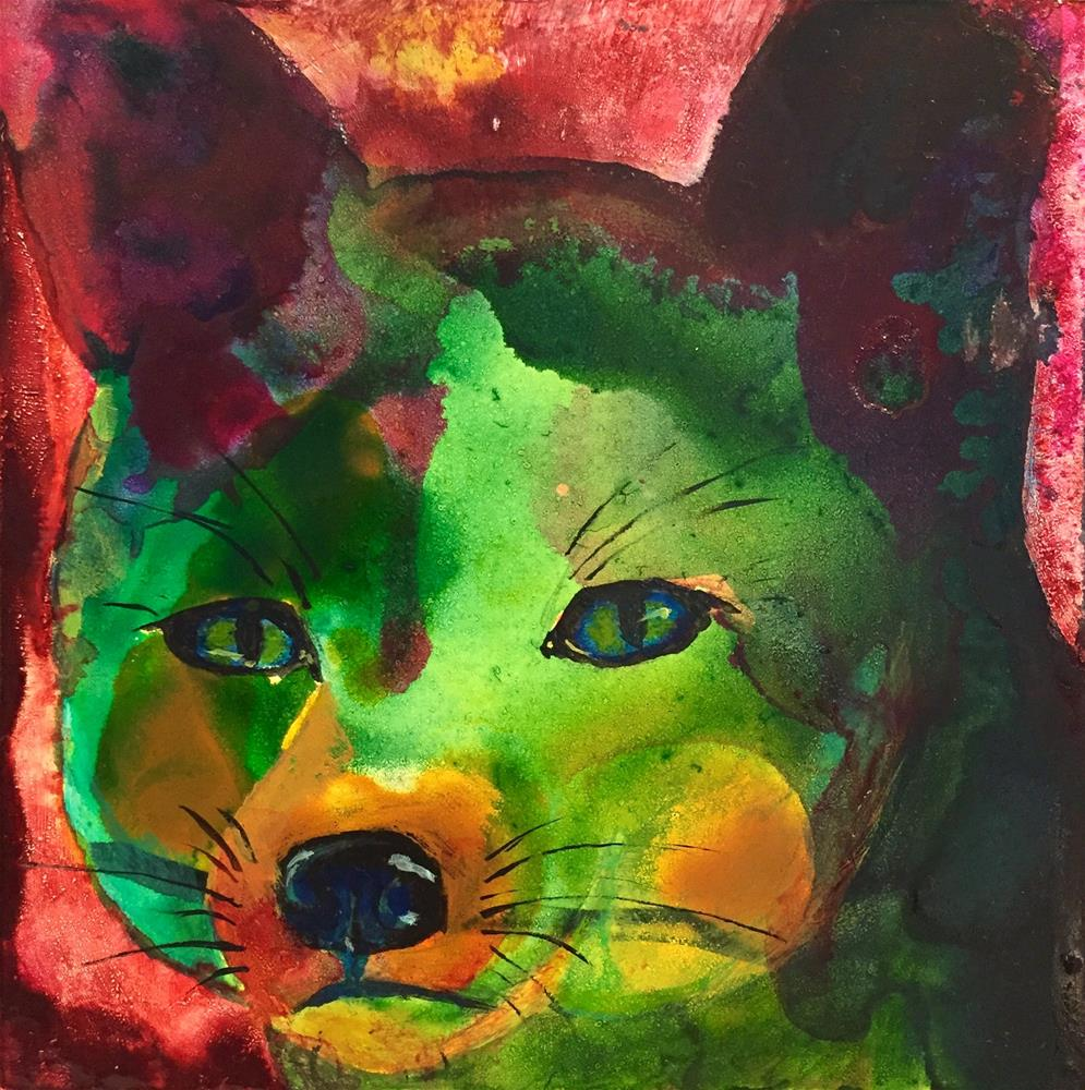 """#21 Foxy"" original fine art by Silke Powers"