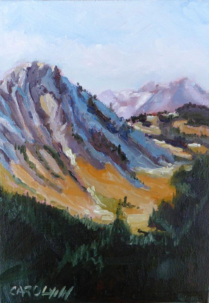 """Hiking the Skyline"" original fine art by Carolynn Doan"