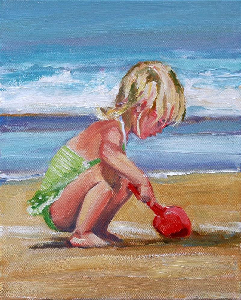 """sweet squatter"" original fine art by Carol Carmichael"