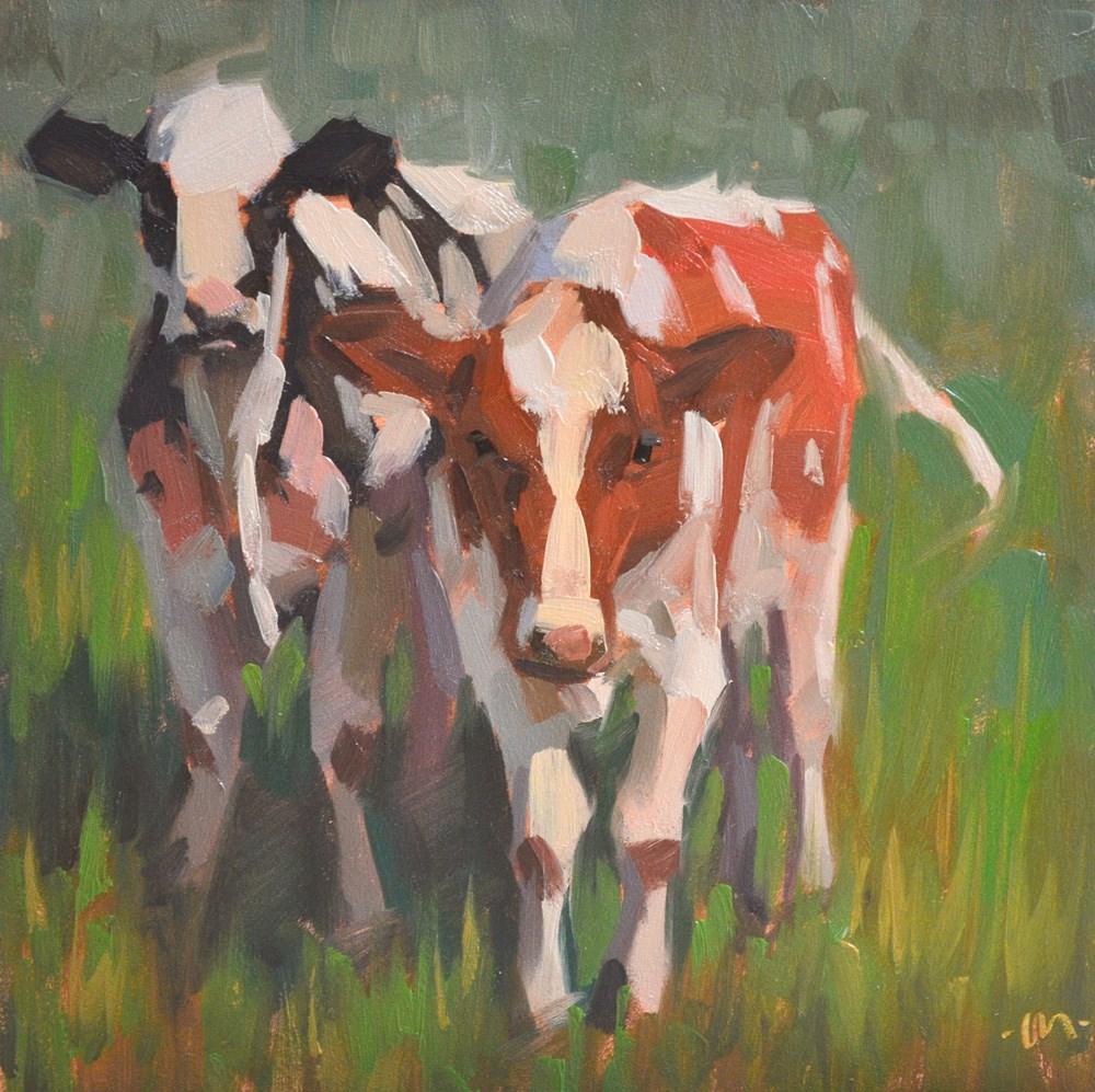 """Outstanding in Their Field"" original fine art by Carol Marine"