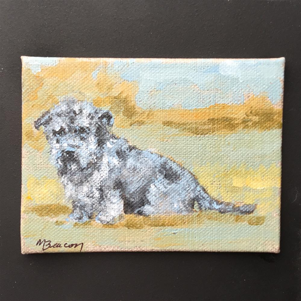 """Glen of Imaal Terrier 1"" original fine art by Mary Beacon"