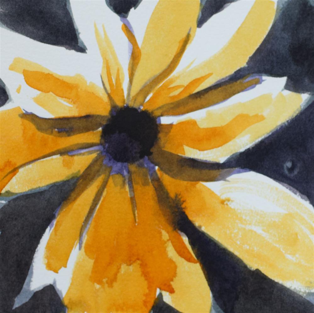 """""""Mellow Yellow"""" original fine art by Nancy Brown"""