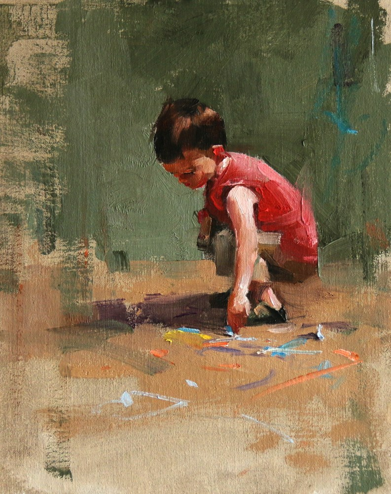 """Young Artist 2"" original fine art by Qiang Huang"