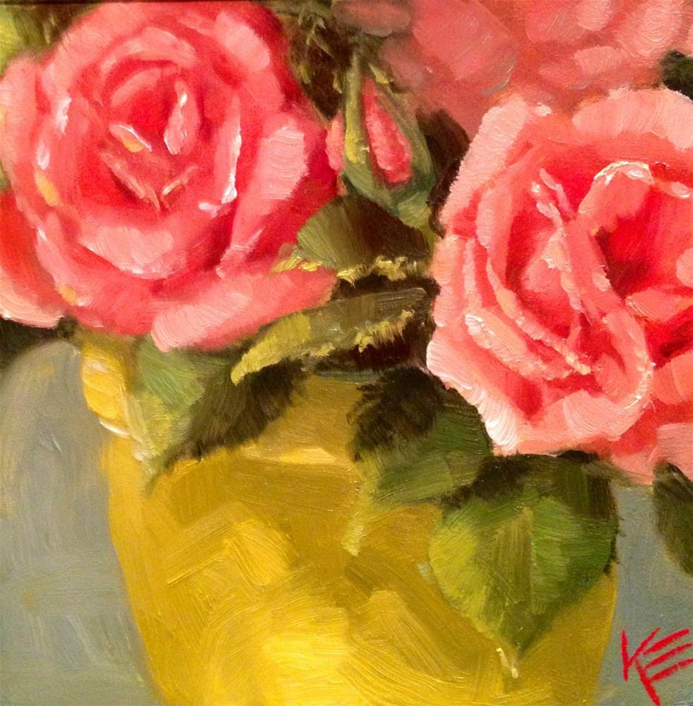 """Roses"" original fine art by Krista Eaton"